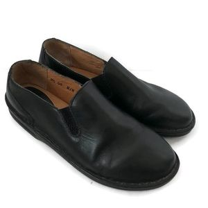 Born Black Leather Loafers-Style B3829
